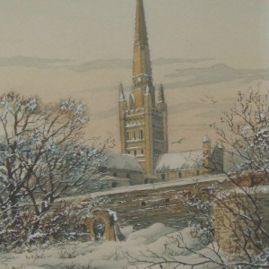 X (SOLD) Norwich Cathedral in Winter