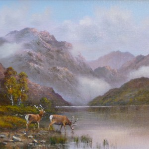 X (SOLD) Highland Stags