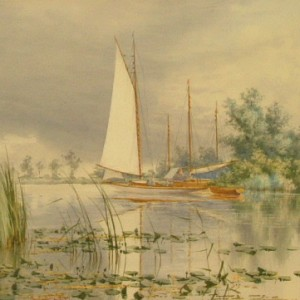 X (SOLD) Clouds and Sunshine, South Walsham Broad