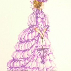 Edwardian Elegance: Lady in Mauve