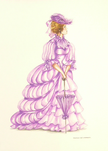 Edwardian Elegance: Lady in Mauve