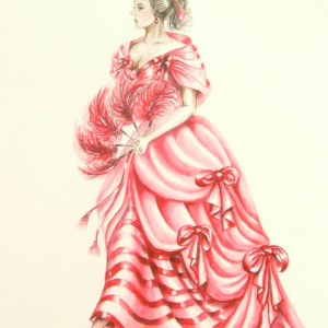 Edwardian Elegance: Lady in Red II