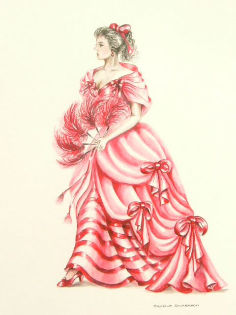 Edwardian Elegance: Lady in Red II