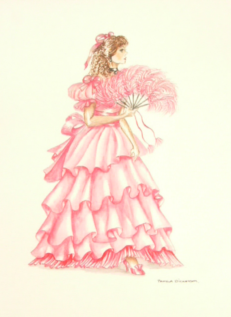Edwardian Elegance: Lady in Pink