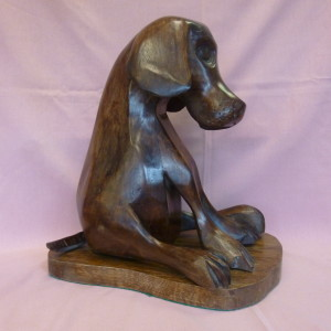 X (SOLD) In the Dog House (Walnut)