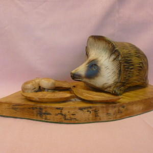 X (SOLD) Hedgehog in Autumn (Sycamore) (no1)