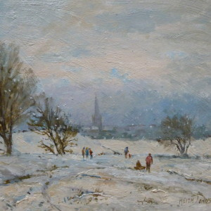 X (SOLD) Sledging at Mousehold, Keith Johnson