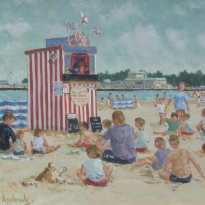 X (SOLD) Punch & Judy, Weymouth Beach (no 1)