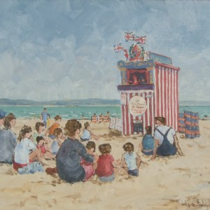 X (SOLD) Punch & Judy, Weymouth Beach (no2)