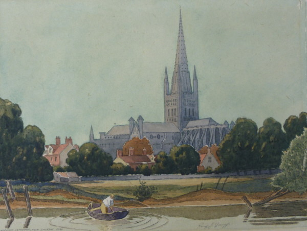 Norwich Cathedral from Riverside Road