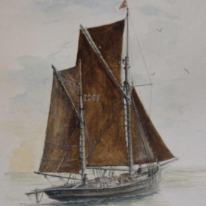 X (SOLD) Lowestoft Trawler dated 1974