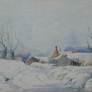 X (SOLD) Snow at Sutton's Farm, 1978