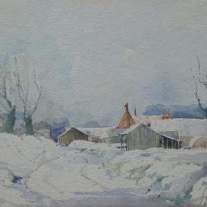 X (SOLD) Snow at Sutton's Farm, 1978