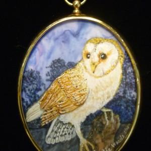 X (SOLD) Miniature – Barn Owl