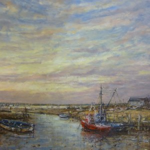 X (SOLD) Summer Evening Light, Brancaster Staithe