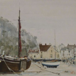 """X (SOLD) """"The Butt and Oyster"""" Pin Mill 1972"""