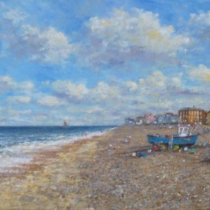 X (SOLD) Summer Afternoon, Shingle Beach, Aldeburgh