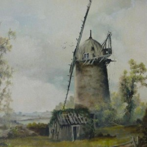 X (SOLD) Study of an old Tower Mill, 1967