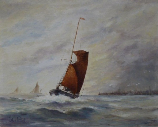 X (SOLD) Spritsail Barge in Squally Weather