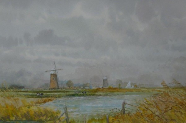 X14 (SOLD) Across the Marshes, Halvergate, Norfolk