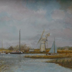 X15 (SOLD) White Mill, Thurne (with Wherry)