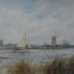 ( unframed) Waterways, Upton, Norfolk