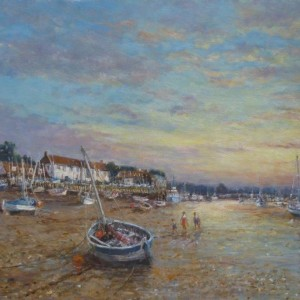 X (SOLD) Evening Light Burnham Overy Staithe