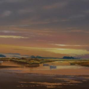 Sunset at Burnham Overy Staithe Norfolk