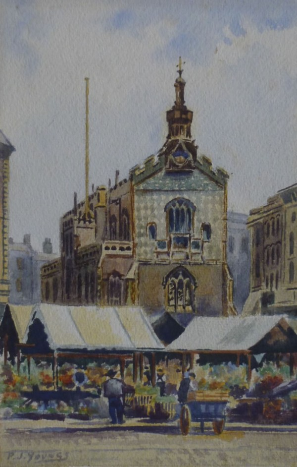 X(SOLD) Norwich Guildhall and old Market