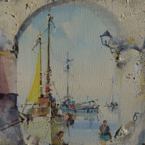 Through the Arch, Mediterranean Harbour Scene