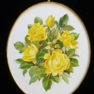 Oval Frame Yellow Roses