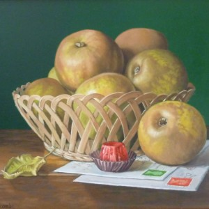 Basket of Russet Apples