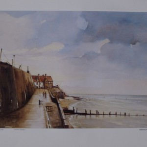 Signed Print – Sheringham after the rain