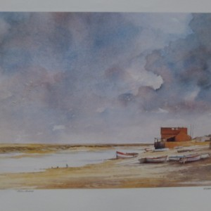 Signed Print – Storm over Wells Harbour
