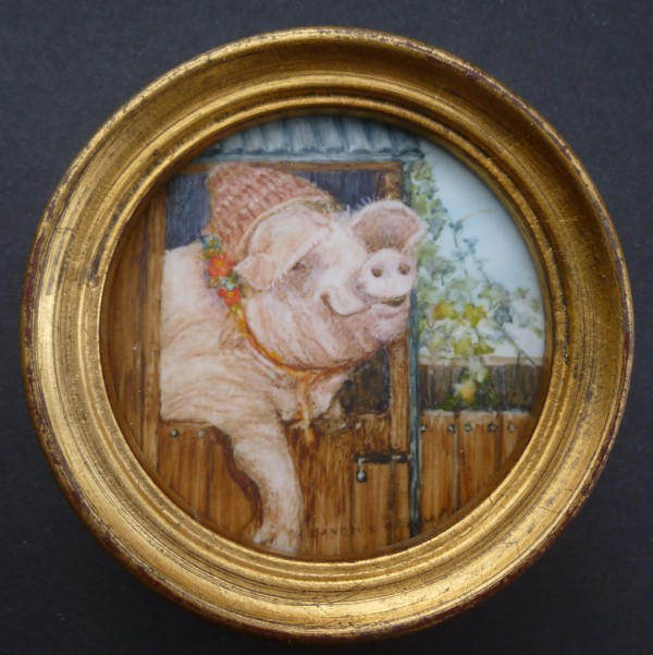 Pig with a Bonnet (not for sale)