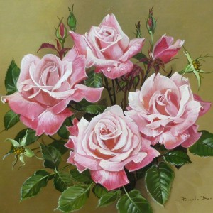 X (SOLD) A Spray of just Pink Roses