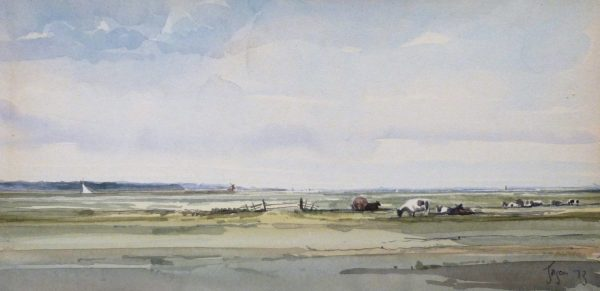 X (SOLD) Cattle on the Marshes, Acle 1973