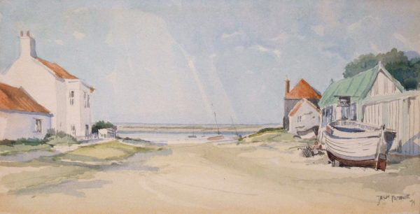 X(SOLD) A View at Overy Staithe, Norfolk 1973