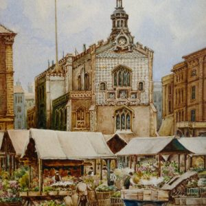 X (SOLD) Guildhall and Flower Market, Norwich