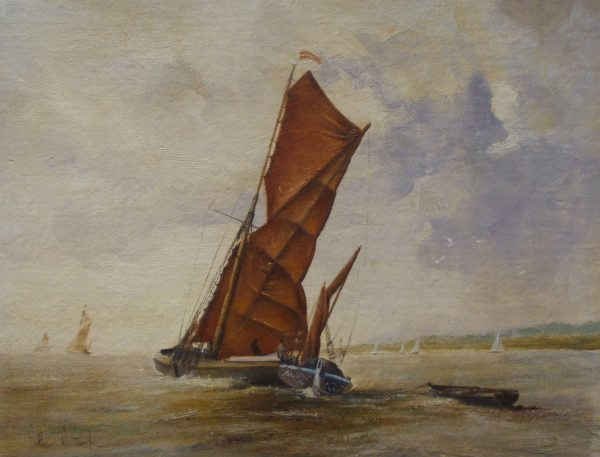 X(SOLD) Thames Barge off the Suffolk Coast