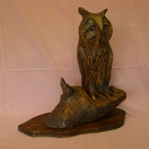 Long Eared Owl (Ash with Pyrography finish)