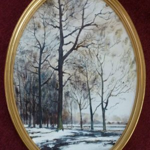 Oval -Tall Trees in Winter