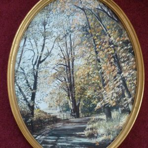 Oval – Autumn Trees
