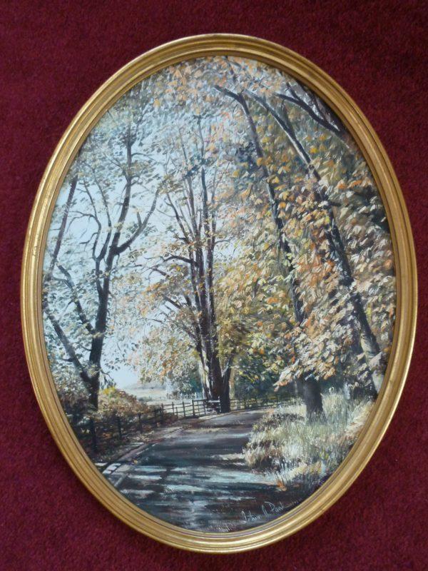 Oval – Autumn Trees
