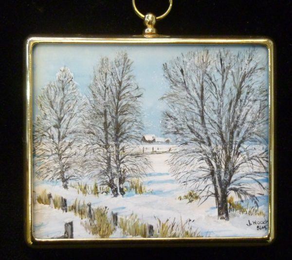 X(SOLD) Miniature – Norfolk Snow Scene
