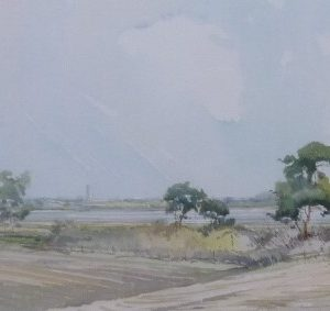 The Estuary at Low Tide, Walberswick Road , 1979