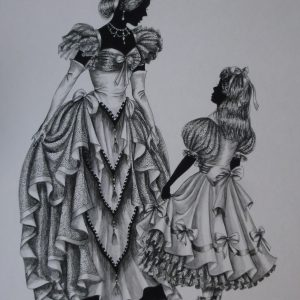 "Edwardian Elegance – ""The Party Dress"" (number 1) original not for sale"