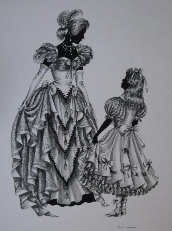 "Edwardian Elegance – ""The Party Dress"" (number 1) original not for sale"