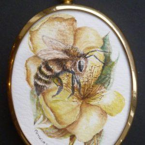 X(SOLD) Honey Bee miniature